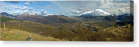 Mount St. Helens Canvas Print - View Of Mount St. Helens With Dramatic by Panoramic Images