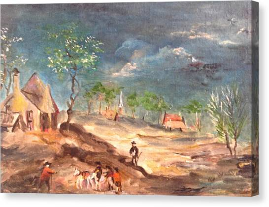 View Of The Countryside Canvas Print
