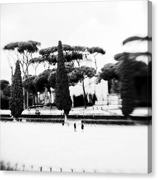 Villa Borghese Canvas Print by Eugenia Kirikova