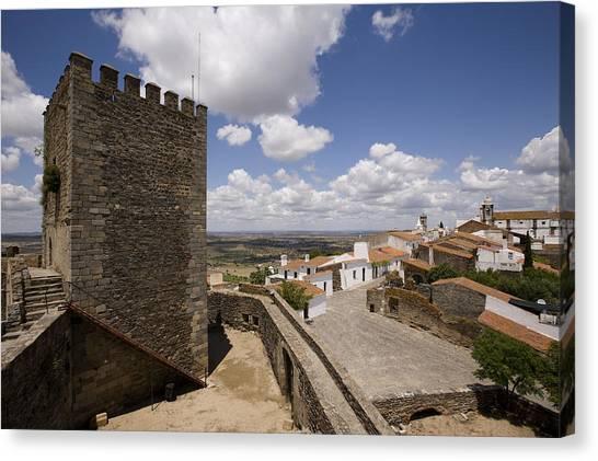 Village Of Monsaraz Portugal Canvas Print by Jim  Wallace