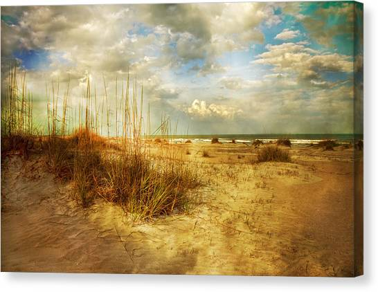 Seagrass Canvas Print - Vintage Beach by Betsy Knapp