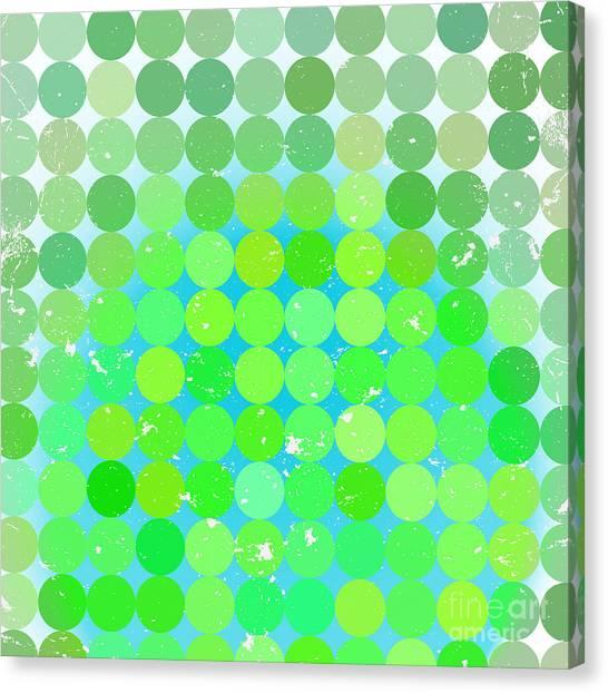 Decoration Canvas Print - Vintage  Circles Pattern.geometric by Veronika M