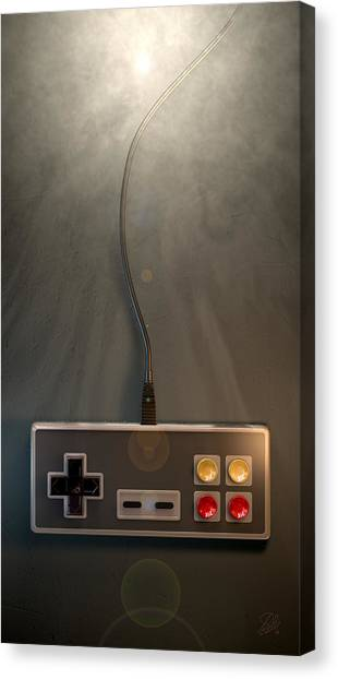 Gaming Consoles Canvas Print - Vintage Gaming Controller by Allan Swart