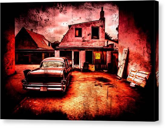 Vintage Grunge Background Canvas Print by Kasper Nymann