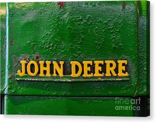 John Deere Canvas Print - Vintage John Deere Tractor by Paul Ward