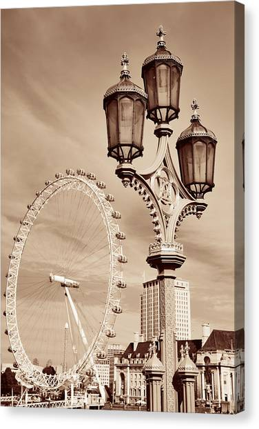 Vintage Lamp Post Canvas Print