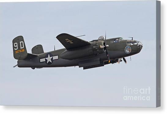 Vintage World War II Bomber Canvas Print
