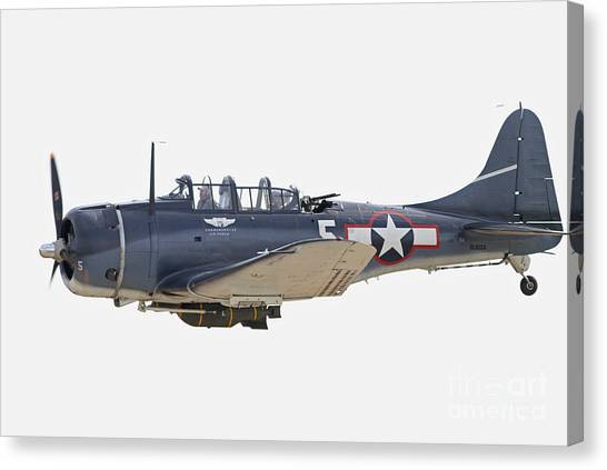 Vintage World War II Dive Bomber Canvas Print