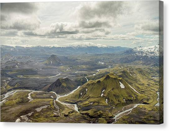 Volcano Valley In Iceland Canvas Print