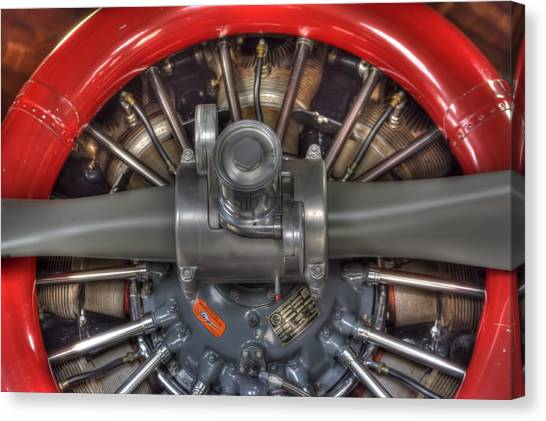 Vultee Bt-13 Valiant Propeller Canvas Print