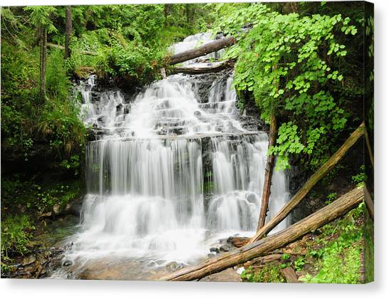 Alger Waterfalls Canvas Print - Wagner Falls by Sharon Goldsboro