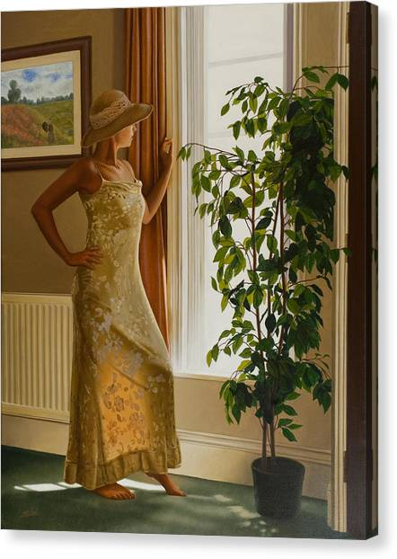Canvas Print - Waiting For Her Lover by John Silver
