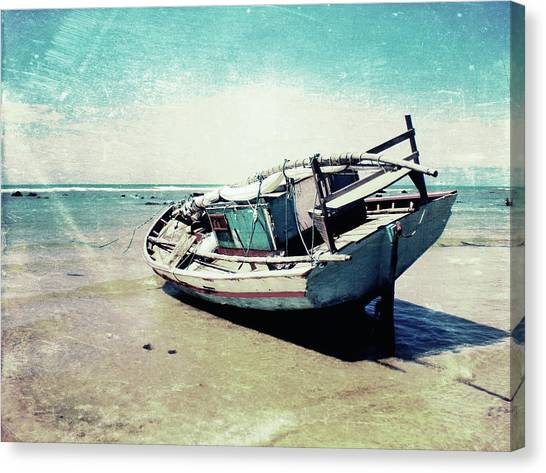 Fishing Boats Canvas Print - Waiting For The Tide by Nicklas Gustafsson