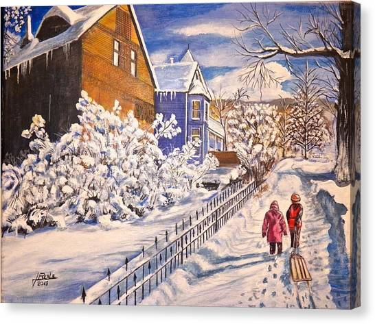 Walking Home Canvas Print by Jim  Reale