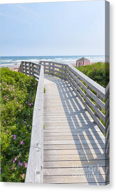Prince Edward Island Canvas Print - Walkway To Ocean Beach by Elena Elisseeva