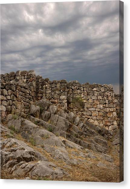 Cyclops Canvas Print - Walls Of Ancient Tiryns by David Parker/science Photo Library