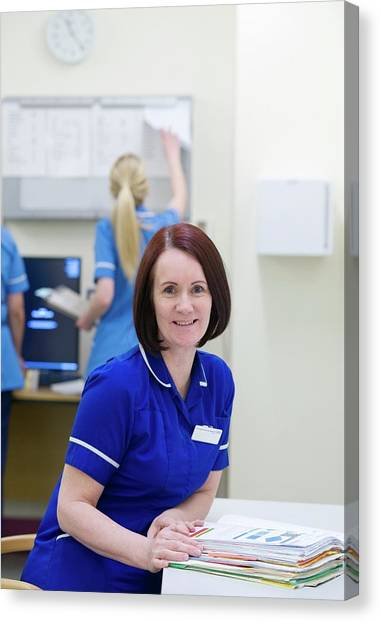 Folders Canvas Print - Ward Sister by Lth Nhs Trust