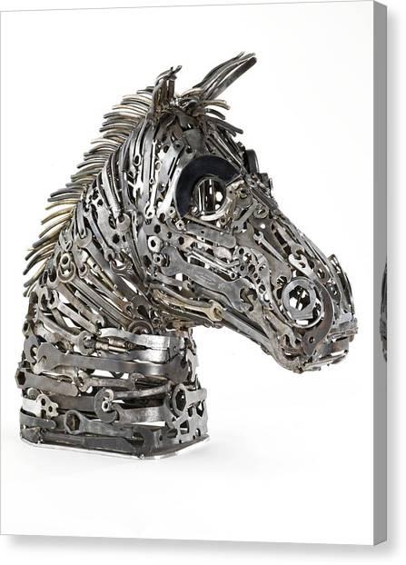 War Horse Canvas Print - Warhorse by Lawrie Simonson