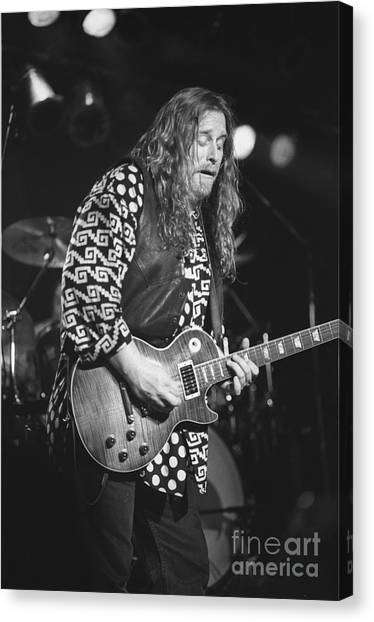 The Allman Brothers Canvas Print - Warren Haines by Concert Photos