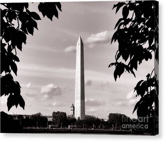 Washington D.c Canvas Print - Majestic Washington Monument by Olivier Le Queinec