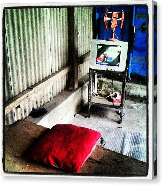 Warehouses Canvas Print - Watching Tv by Rahmat Nugroho