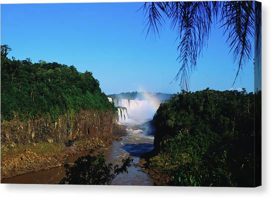 Iguazu Falls Canvas Print - Waterfall In A Forest, Iguazu Falls by Panoramic Images