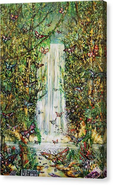 Waterfall Of Prosperity II Canvas Print