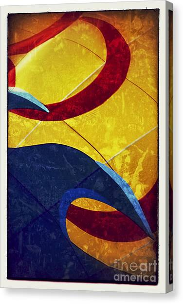 Hot Air Balloons Canvas Print - Waves And Swirls by Susan See