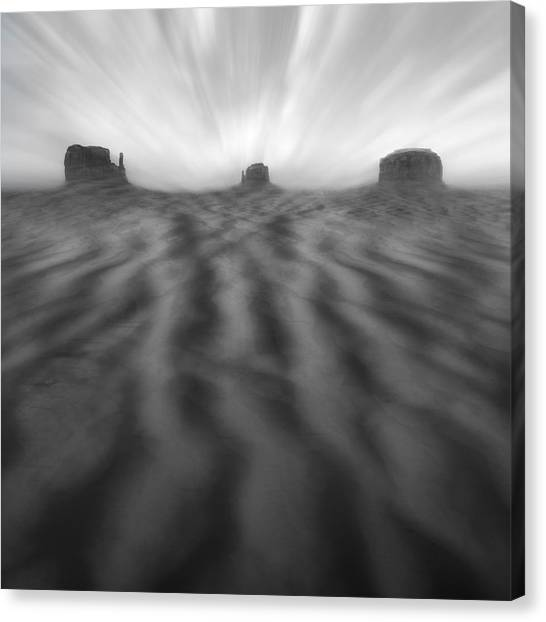Black Rock Desert Canvas Print - Weathered by Mike McGlothlen