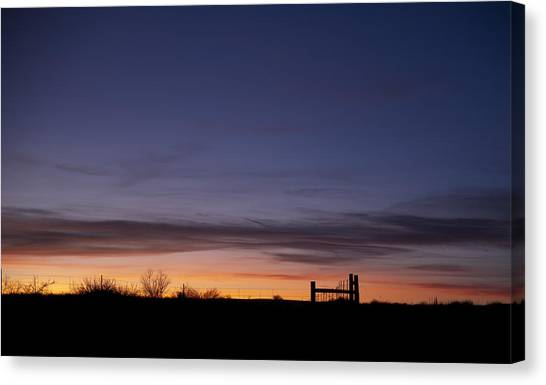 West Texas Sunset Canvas Print