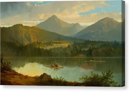 Beautiful Canvas Print - Western Landscape by John Mix Stanley