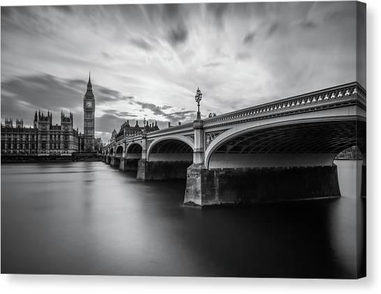 Big Ben Canvas Print - Westminster Serenity by Nader El Assy