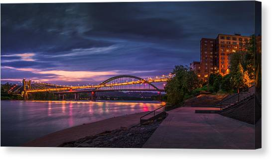 Wheeling Suspension Bridge  Canvas Print