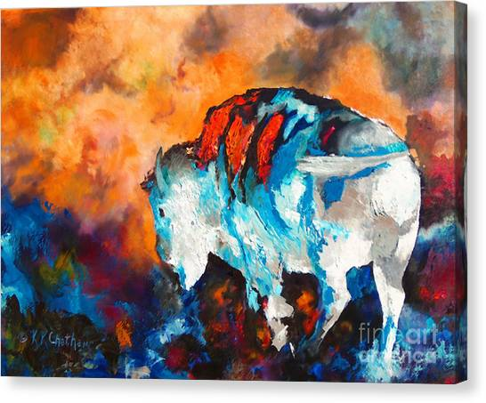 White Buffalo Ghost Canvas Print