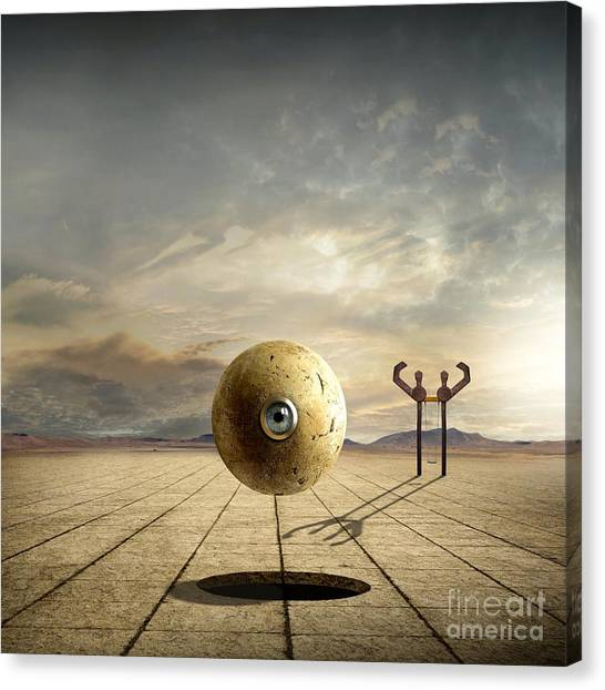 Nsa Canvas Print - Who Controls You by Franziskus Pfleghart