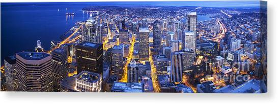 The Nature Center Canvas Print - Wide Seattle Cityscape by Mike Reid