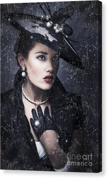 Black Widow Canvas Print - Widow At Funeral by Jorgo Photography - Wall Art Gallery