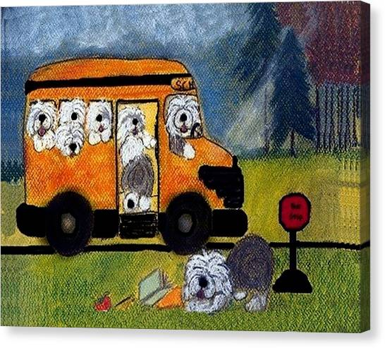 Wigglebottom Bus Canvas Print