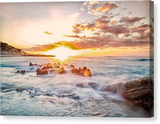 South African Canvas Print - Wild Coast Sunrise by Louis Kleynhans