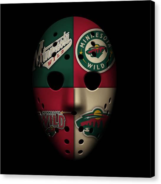Skating Canvas Print - Wild Goalie Mask by Joe Hamilton