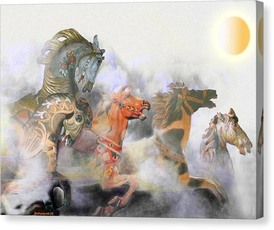 Wild Horses Canvas Print by Larry Butterworth