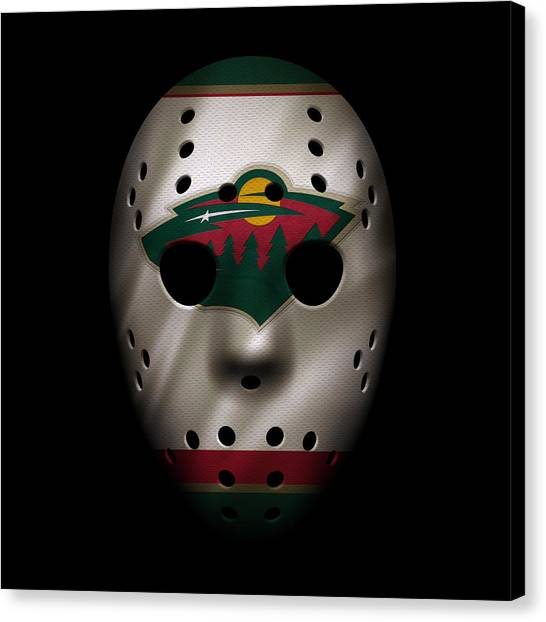 Minnesota Wild Canvas Print - Wild Jersey Mask by Joe Hamilton