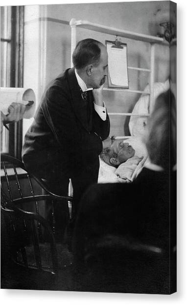 Johns Hopkins Canvas Print - William Osler Attending A Patient by National Library Of Medicine