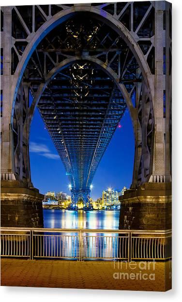 Light Canvas Print - Williamsburg Bridge 3 by Az Jackson