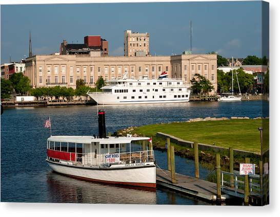 Wilmington Water Front Canvas Print