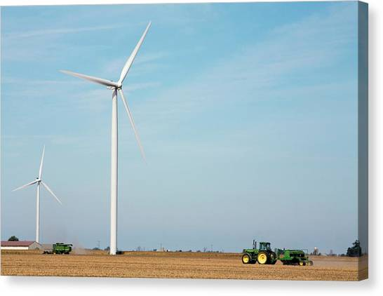 Clean Energy Canvas Print - Wind Farm by Jim West