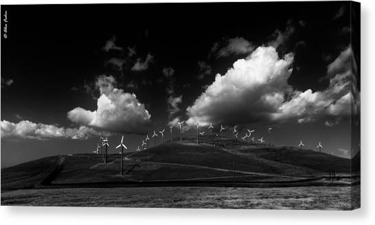 Windmill Electric Power Station Canvas Print