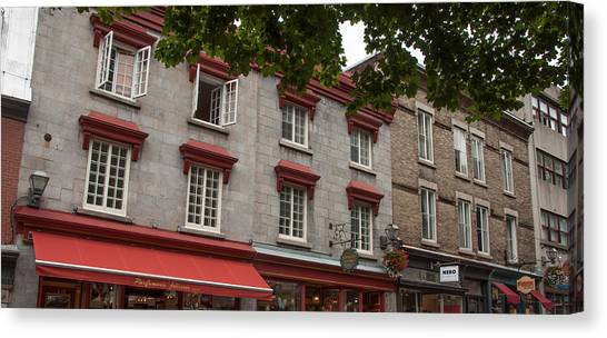 Windows Of Quebec City  Canvas Print by Rosemary Legge