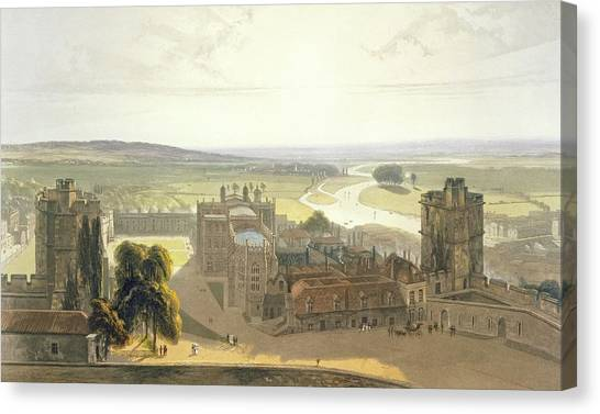 St George Canvas Print - Windsor Castle, From A Compilation by William Daniell