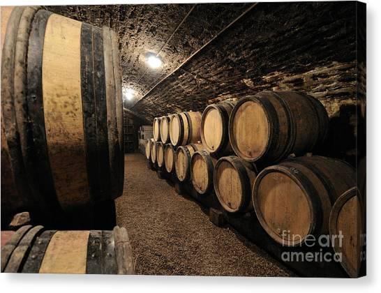 Wine Cellar Canvas Print - Wine Barrels In A Cellar. Cote Du0027or. & Wine Cellar Canvas Prints   Fine Art America
